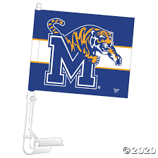 Ncaa Memphis Tigers Car Flag Discontinued