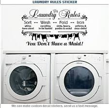 The Laundry Room Vinyl Wall Decal Sticker Decor Quote Bubbles Wash Dry Fold 15 06 Picclick