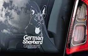 Amazon Com German Shepherd On Board Clear Decal Sticker For Car Window Black Alsatian K9 Dog Sign Decal Quality Unique Vinyl Designs Decor Computers Accessories