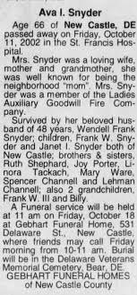 Obituary: Ava Snyder - Newspapers.com