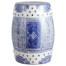 blue white chinoiserie acanthus ceramic