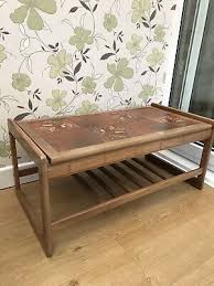 vintage tiled top coffee table