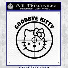 Goodbye Hello Kitty Scope Decal Sticker A1 Decals