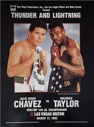 JULIO CESAR CHAVEZ VS MELDRICK TAYLOR COLOR POSTER READY FOR FRAMING | eBay
