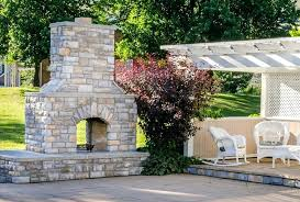 double sided outdoor fireplace o co