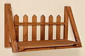 Wall Shelf Carlos Fence Brown Shelf Shelves Storage Wood Amazon Co Uk Kitchen Home