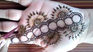 circle mehndi design