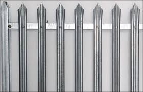 Steel Palisade Fence Hot Dip Galvanized In Kit Form Of Panels Gates Razor Wire