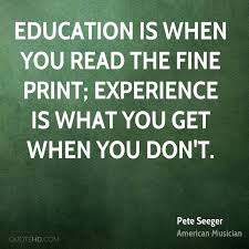 pete seeger education quotes quotehd