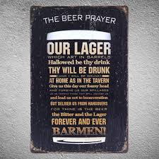 shipping funny beer quote metal sign creative beer glass wall