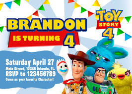 Toy Story 4 Invitation Toy Story Invite Toy Story Birthday Party