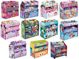 Kids Multi Bin Toy Organizer Engineered Solid Wood Fabric Disney Finding Dory For Sale Online Ebay