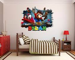 Super Smash Bros Wall Decal Decor Sticker Mural Wall Hole 3d Etsy