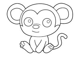 Tranh tô màu con khỉ cho bé 3 tuổi trong 2020 | Hình ảnh, Hình, Hello kitty