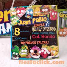 Grossery Gang Invitacion B Todo Para La Fiesta