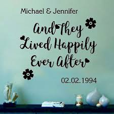 And They Lived Happily Ever After Wall Sticker Personalised Wallart Decal Ebay