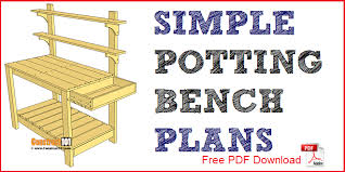 simple potting bench plans pdf