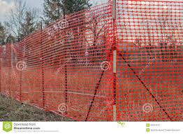 Orange Plastic Construction Mesh Safety Fence Stock Image Image Of Horizontal Protection 39341273
