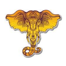 Elephant Henna Design Ornamental Vinyl Sticker Waterproof Decal Sticker 5 Walmart Com Walmart Com