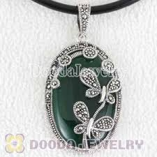 double dragonfly marcasite pendant