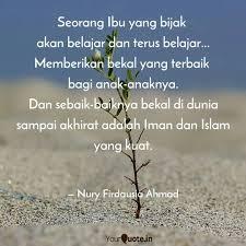 seorang ibu yang bijak a quotes writings by nury firdausia