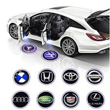Car Fitg Wireless Led Car Door Projector Puddle Logo Light Car Glowing Carfitg Car Lighting Upgrade