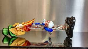 colourful murano glass clown with ball