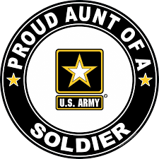 Proud Aunt Of A Soldier U S Army Round Decal