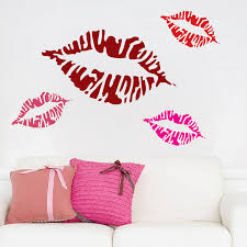 Pucker Lips Wall Decal Stickers Trendy Wall Designs