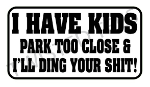 I Have Kids Park Too Close And I Ll Ding Your Shit Car Etsy