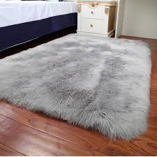 liu thick plush artificial wool carpet