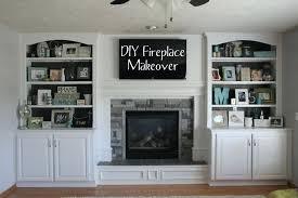 built in bookshelves around fireplace