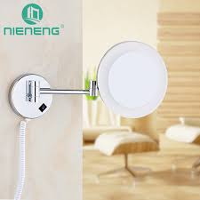 makeup mirrors led bathroom accessories