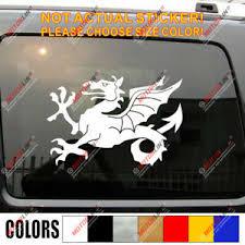 Anglo Saxon White Dragon Decal Sticker England English Car Vinyl Pick Size A Ebay