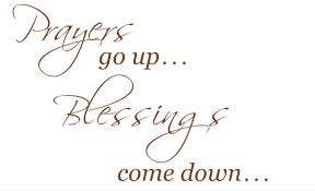 Prayers Go Up Blessings Come Down Wall Vinyl Decal Home Etsy Vinyl Wall Decals Prayer Wall Vinyl Wall