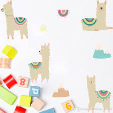 Ins Cartoon Alpaca Wall Sticker Nordic Style Diy Baby Children Room Decoration Wallpaper Removable Home Decals Wall Decal Decorations Wall Decal Design From Sunshine World 5 12 Dhgate Com