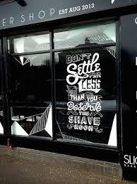 Slick S Barbershop Window Mural Window Mural Window Art Shop Window Design