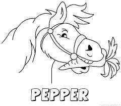 Pepper Naam Kleurplaten