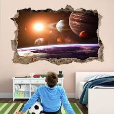 Planets Space Wall Sticker Mural Decal Print Art Astronomy Etsy