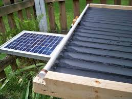 solar water heater design using