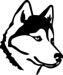 Husky Outline Vinyl Decal Sticker Cute Animal Dog Family Pet Sled Ebay