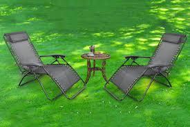 2 zero gravity garden chairs garden