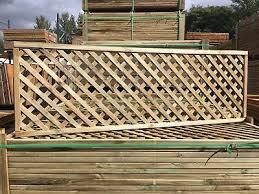 6x2 Elite Highgrove Lattice Diamond Trellis 180x60cm Garden Wood Fence Topper Ebay