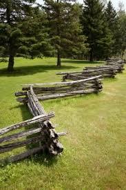 Rustic Log Fence Ideas