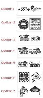 Class Of 20 Graduation Decor Gift Idea Suitable For Glass Blocks Class Of 2017 Set Of 2