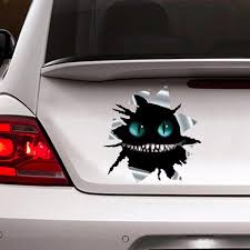 Cheshire Cat Car Sticker Cheshire Decal Chechire Cat Torn Etsy