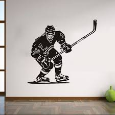 Ice Hockey Sports Wall Stickers Athletes Ice Hockey Game Cool Wall Decal For Home Decoration 8537 Wall Stickers Aliexpress