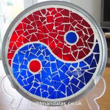 stained glass mosaic mandala