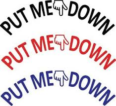 Put Me Down Bathroom Toilet Seat Hand Vinyl Decal Sticker Sign Reminder For Him Ebay