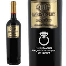 personalised enement red wine